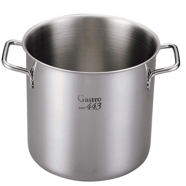 【まとめ買い10個セット品】 【業務用】【 即納 】 EBM Gastro 443 寸胴鍋(蓋無)22cm