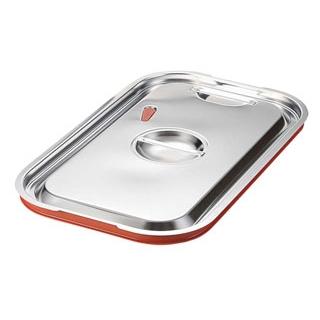 【まとめ買い10個セット品】 EBM 18-8 ガストロノームパン用シリコン付カバー 1/4 【ECJ】【 ホテルパン・ガストロノームパン 】
