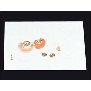 【まとめ買い10個セット品】 【業務用】四季紙 萬寿(100枚入)M33-121 柿と栗