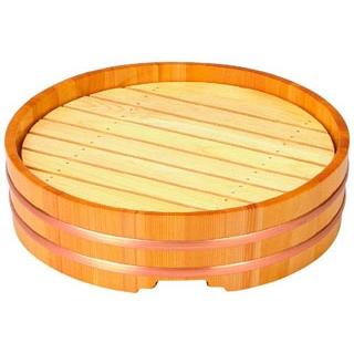 【まとめ買い10個セット品】 【業務用】木製 丸桶盛込器 尺2(目皿付)7-660-3