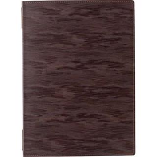 【まとめ買い10個セット品】 【業務用】えいむ ピンホールグルーブメニューブック GB-131 大 ダークブラウン