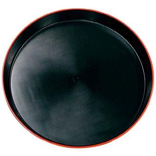 【まとめ買い10個セット品】 【業務用】市松 プラ容器 黒赤フチ 35(10枚入)本体