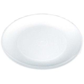 【まとめ買い10個セット品】プラ容器 丸皿 白(10枚入)D-45【 厨房消耗品 】 【ECJ】