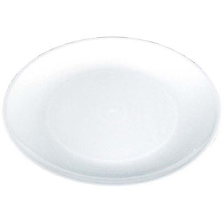 【まとめ買い10個セット品】プラ容器 丸皿 白(10枚入)D-35【 厨房消耗品 】 【ECJ】