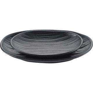 【まとめ買い10個セット品】 【業務用】天目砂鉄 楕円皿 7.5寸