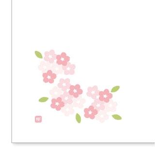 【まとめ買い10個セット品】 【業務用】和紙テーブルマット「花日和」Mサイズ(100枚入)A-3-4「桜」