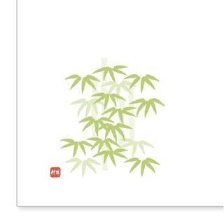 【まとめ買い10個セット品】 【業務用】和紙テーブルマット「花日和」Mサイズ(100枚入)A-4-6「竹林」