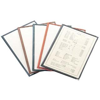 【まとめ買い10個セット品】 【業務用】えいむ クリアテーピング メニューブック 合皮 LTB-44 赤