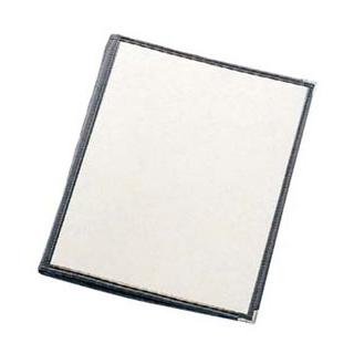 【まとめ買い10個セット品】 【業務用】えいむ クリアテーピング メニューブック 合皮 LTB-48 黒