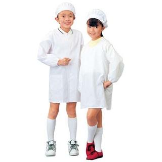 【まとめ買い10個セット品】 【業務用】学童給食衣割烹着型 SKV361 3号 L
