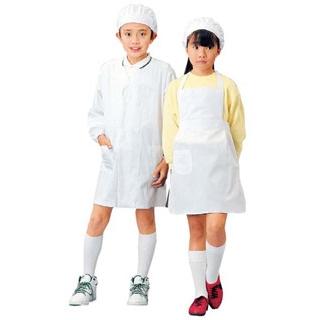 【まとめ買い10個セット品】 【業務用】学童給食衣エプロン型 SKV362 S