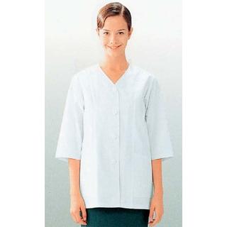 【まとめ買い10個セット品】 【業務用】女性用コート(調理服)AA331-8 7号