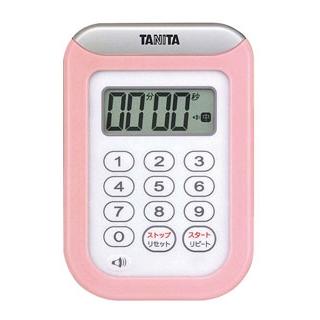 【まとめ買い10個セット品】 【業務用】タニタ 丸洗いタイマー 100分計 TD-378 ピンク