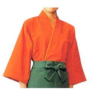 【まとめ買い10個セット品】 【業務用】作務衣用替衿 EY3501-3 橙 L