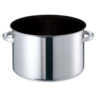 【まとめ買い10個セット品】 【業務用】EBM モリブデンジIIプラス 半寸胴鍋 24cm 蓋無 ノンスティック