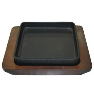 【まとめ買い10個セット品】 IK 鉄 スクエアステーキ皿 11320 【ECJ】【 卓上鍋・焼物用品 】