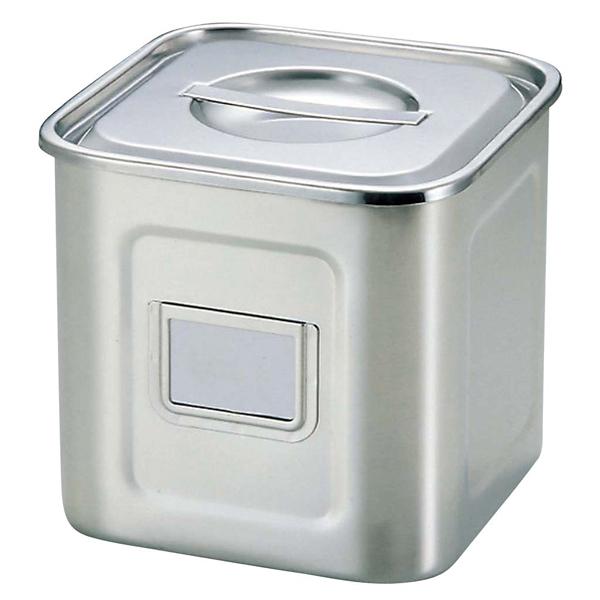 UK 18-8 角型 キッチンポット 名札付 24cm 【ECJ】