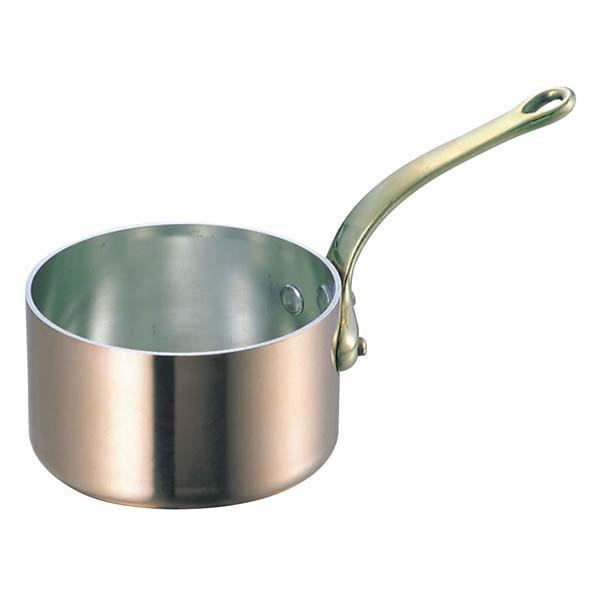SW 銅 極厚 深型 片手鍋 蓋無(真鍮柄)18cm 【ECJ】