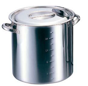 クローバー 電磁モリブデン 寸胴鍋(目盛付)27cm 【ECJ】