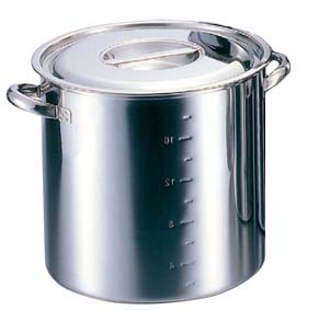 クローバー 電磁モリブデン 寸胴鍋(目盛付)39cm 【ECJ】