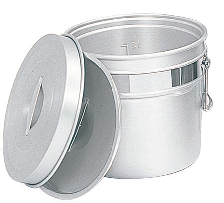 アルマイト 段付二重食缶 248-R 12L φ320×H273 【ECJ】【 運搬・ケータリング 】