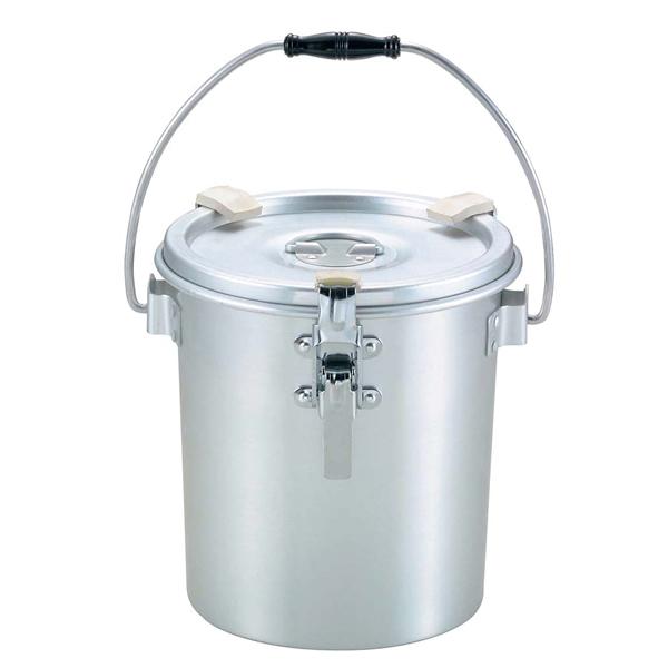 アルマイト 丸型二重食缶(クリップ付)237-H 4L 【ECJ】【 運搬・ケータリング 】