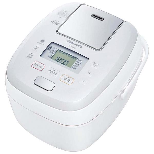 パナソニック 可変圧力IHジャー炊飯器 SR-PB108-W 【ECJ】炊飯器・スープジャー