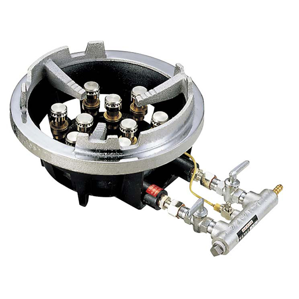 サントク ジャンボ ガスコンロTG型 立型 TG-9J 【ECJ】電気・ガスコンロ