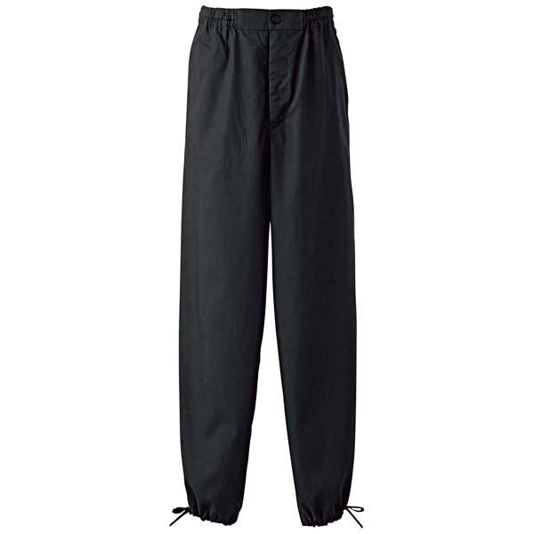 作務衣パンツ EL3378-8(男女兼用)黒 3L 【ECJ】ユニフォーム