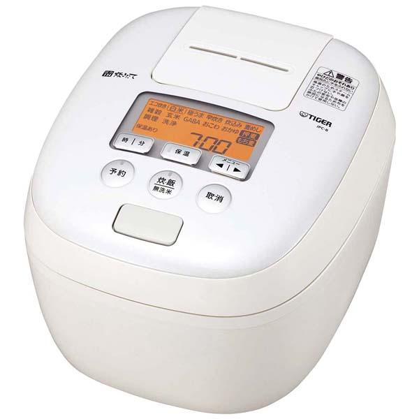 タイガー 圧力IH炊飯ジャー 炊きたて JPC-B102(WM) 【ECJ】炊飯器・スープジャー