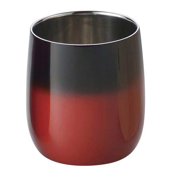 漆磨 2重構造ロックカップダルマ 250ml 赤彩 SCW-D602 【ECJ】グラス・酒器