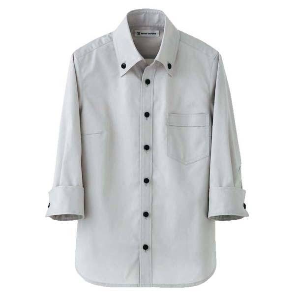 男女兼用 スキッパーボタンダウンシャツ CH4420-8 グレー 4L 【ECJ】ユニフォーム