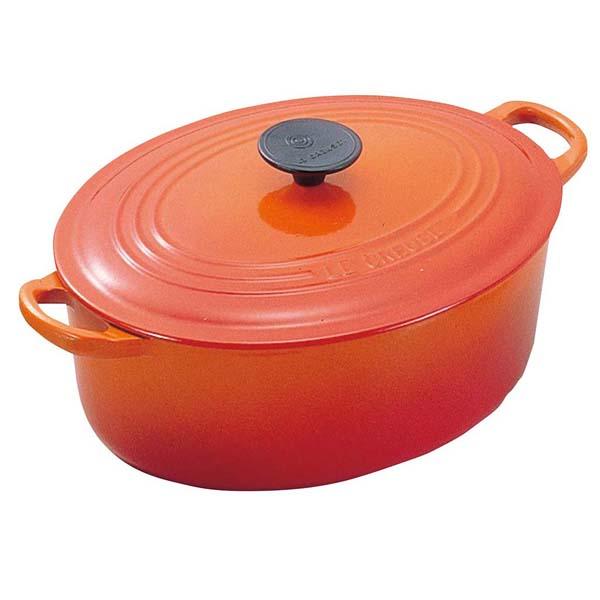 ル・クルーゼ トラディション ココットオーバル 27cm 2502-27-09 オレンジ 【ECJ】ブランドキッチンコレクション