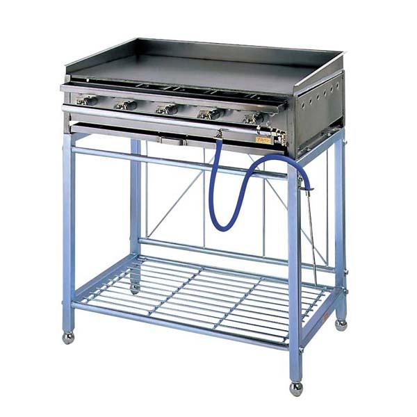 eb-6010330 ガス ◆セール特価品◆ 公式ショップ グリドル AK型スタンド付 AK-1A たこ焼 お好み焼 鉄板焼関連 ECJ 6B