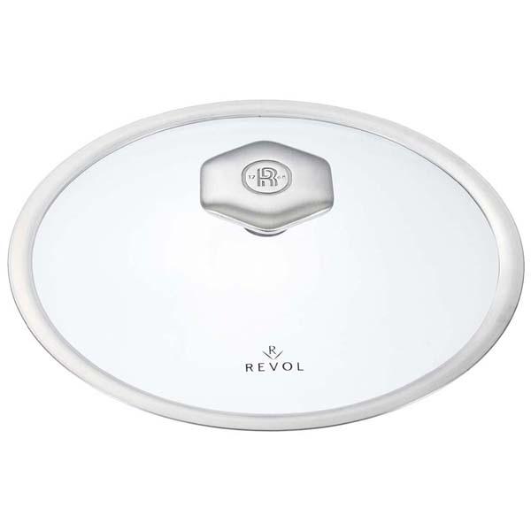レヴォル レヴォリューション2 シャローココット(ガラス蓋)28cm 649865 【ECJ】ブランドキッチンコレクション