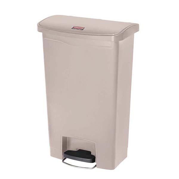 ラバーメイド スリムジムステップオンコンテナー フロントステップ 50L ベージュ 1883458 【ECJ】清掃・衛生用品
