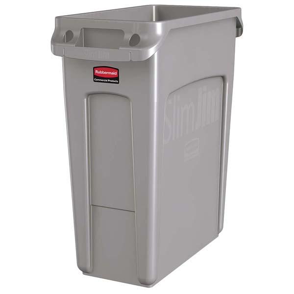 ラバーメイド スリムジムコンテナー グレー 1971258 60.6L 【ECJ】清掃・衛生用品