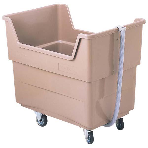 1X592P GF16 【ECJ】清掃・衛生用品 ビッグカー(排水ホース付)280L