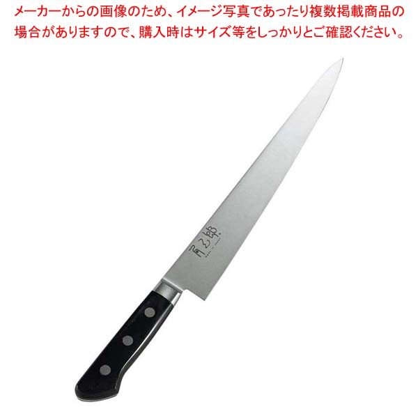 eb-1251940 角三郎 ハイカーボン10A ツバ付パッカー柄 筋引 24cm 【ECJ】