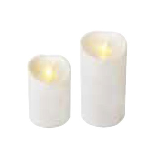 【まとめ買い10個セット品】LEDキャンドル ルミナラ アウトドアピラー3.75×7