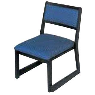 木製都高座椅子 新雅(布)フレーム黒 12017585