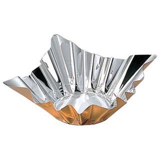 【まとめ買い10個セット品】アルミ箔鍋 ゴールド (200枚入) 8号 【ECJ】