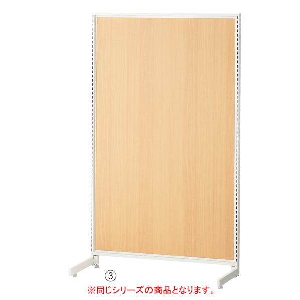【まとめ買い10個セット品】 SF90片面タイプ ホワイト H150cm ダークブラウンパネル付き 【ECJ】