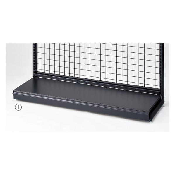 【まとめ買い10個セット品】 BR50用幕板付きステージW120×D35cm ブラック 【ECJ】