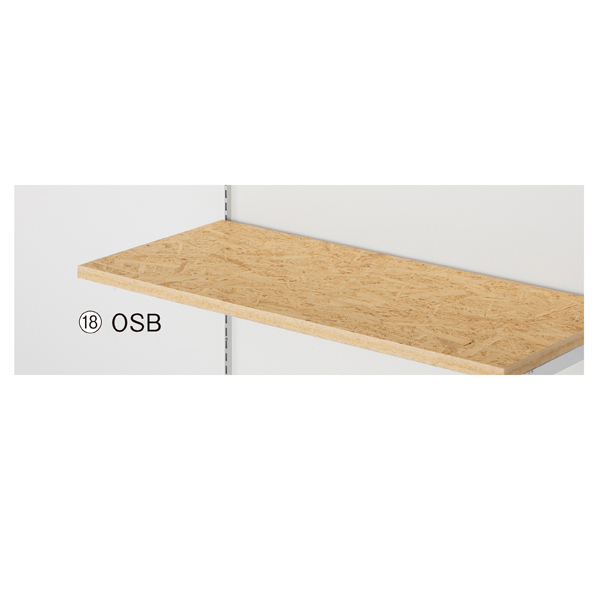 【まとめ買い10個セット品】 OSB木棚W120×D40cm t23mm(ダボ8穴/芯々888・1188/透明ローカン) 【ECJ】