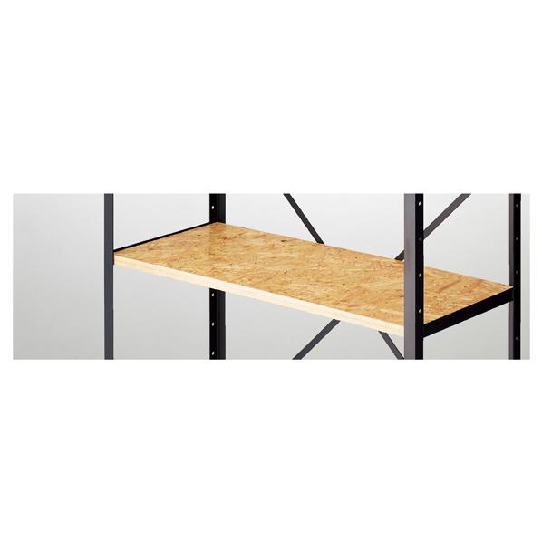 【まとめ買い10個セット品】 OSBシェルフラック用木棚セット W120cm 【ECJ】