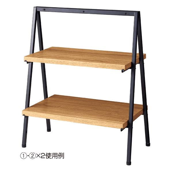 【まとめ買い10個セット品】 ラスティック柄 卓上ディスプレー 木棚 D35cm 【ECJ】