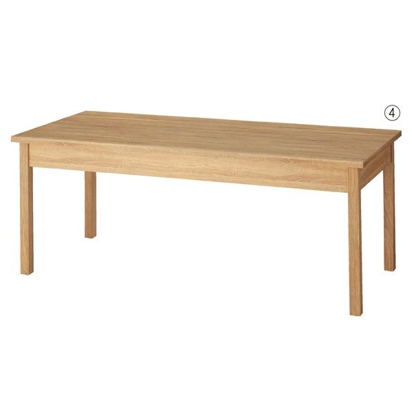 【まとめ買い10個セット品】 木製テーブル W180cm ラスティック柄 【ECJ】