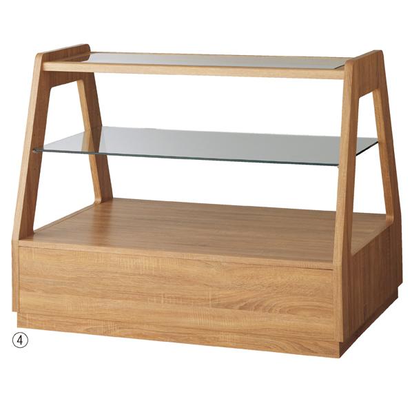 【まとめ買い10個セット品】 木製フレーム3段テーブル ラスティック 【ECJ】