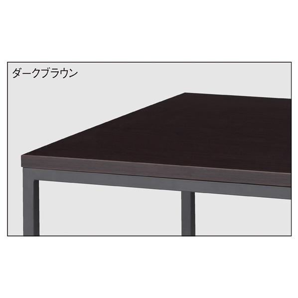 【まとめ買い10個セット品】 ブラックショーテーブル ダークブラウン W120D45 【ECJ】